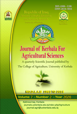 Journal of Kerbala for Agricultural Sciences Issue (2), Volume (7), (2020)